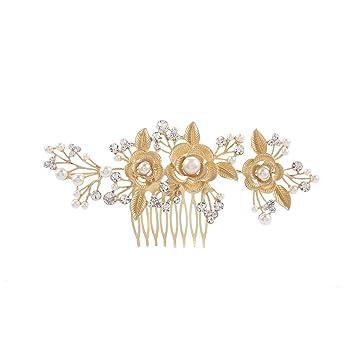 Frcolor Haar Kamm Fur Frauen Hochzeit Braut Diamant Blume Perle Band