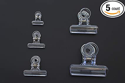 5PCS Clear Fly Tying Feather Clips Hackle Holding Tools Fly Fishing Accessori PT