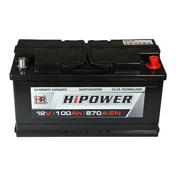 Hr Hipower Autobatterie 12v 100ah Ersetzt 88 90 92 95 Ah