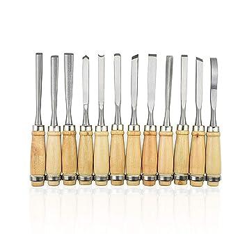 Amazon.com: 12 cuchillos de corte de madera para cortar ...