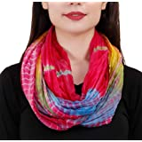 TC Mixed Color Oil Painting Vibrant Artistic TieDye Infinity Scarf