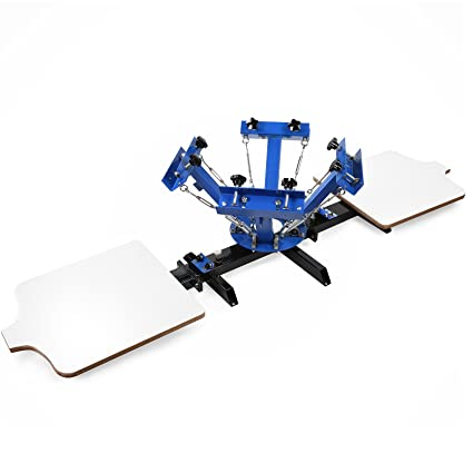 c16150eb BestEquip Screen Printing Machine 2 Station 4 Color Screen Printing for T-shirt  DIY Screen