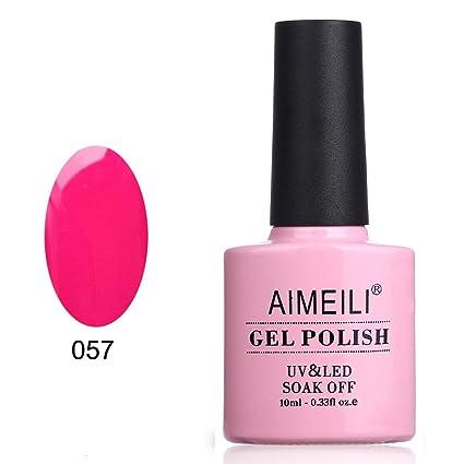 AIMEILI Esmalte De Uñas Soak Off UV LED Uñas De Gel - Neon Very Berry (