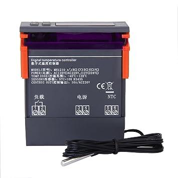 AC 220V MH1210A Controlador De Temperatura Termostrato Sensor Pantalla Digital LCD