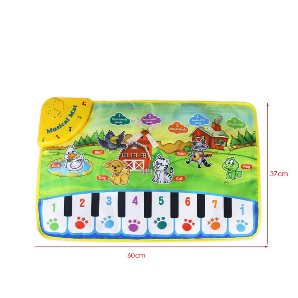TechCode Children's Upgrade Piano Playmat, Kids Piano Keyboard Music Playmat Toy, Funny Dancing Mat for Babies Toddler Boys and Girls Birthday Christmas Festival Gift by TechCode (Image #3)