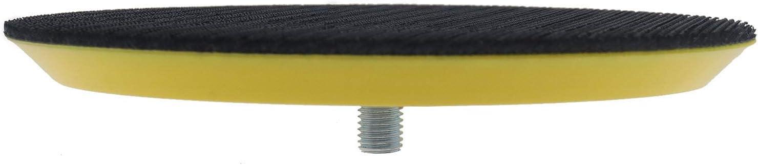 OTOTEC 5 Pouces 125mm Plaque dappui de Polissage M8 pour Ponceuse /à Crochets et /à Boucles