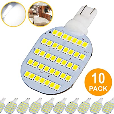 Super Bright T10 921 922 912 LED Bulbs for 12V RV Ceiling Dome Light RV Interior Lighting Trailer Camper, White 600 Lumens (Pack of 10): Automotive