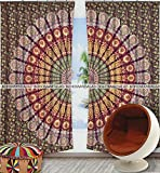 Cheap Large Ombre Mandala Window Curtain Indian Drape Handmade Curtain Panel By Bohomandala