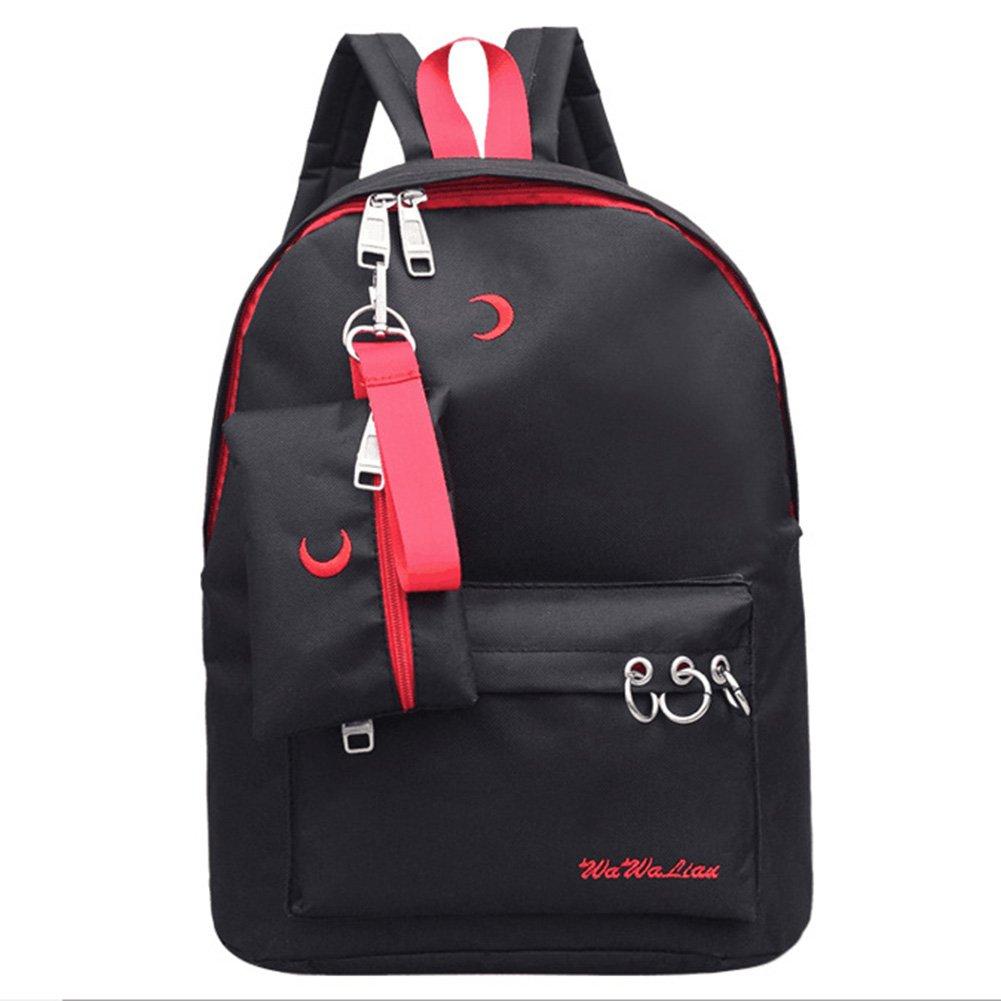 Espeedy Diseño de marca de alta calidad impermeable cremallera mochila escuela bolsa para adolescentes mochila bordado Luna mochila viajar: Amazon.es: ...