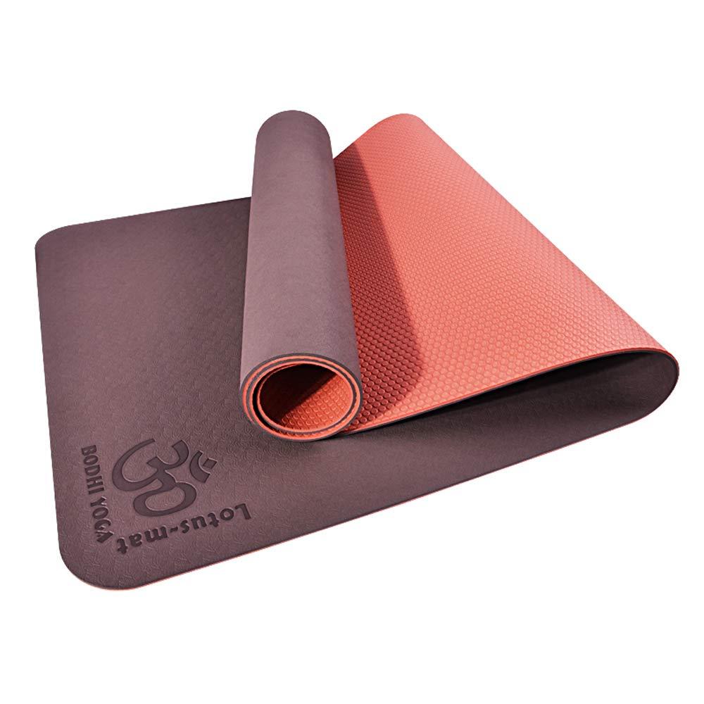 WZLDP TPE Yoga Mat Antideslizante Trompeta estándar portátil ...