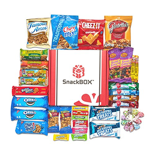 Care Package for College Students, Finals, Christmas and Back to School (45 Count) From SnackBOX