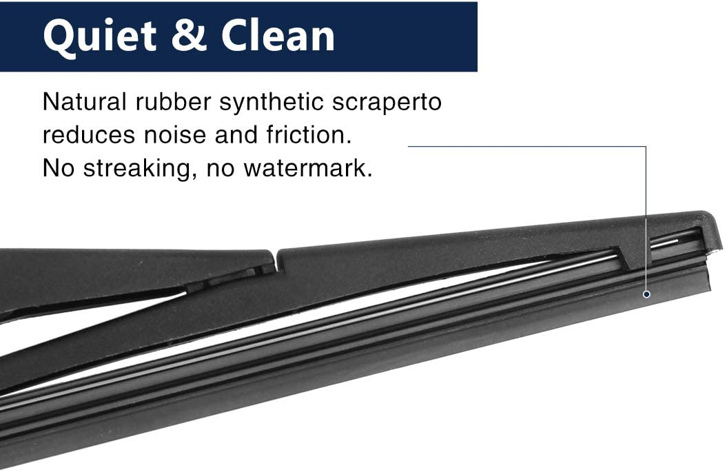 X AUTOHAUX Car Rear Windshield Wiper Blade Arm Set 235mm 9 Inch Black