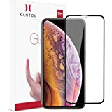 Kantou 3D Screen Protector Full Coverage for iPhone Xs/iPhone X 5.8 Inch, Edge to Edge Tempered Glass Screen Protector, HD, Ultra Clear, Ultra-Thin, Easy Instal-for iPhone Xs/iPhone X/iPhone 10