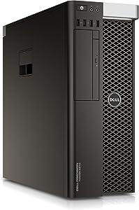 Dell Precision T5810 Intel Xeon E5-1620 X4 3.5GHz 32GB 500GB Win10,Black(Certified Refurbished)