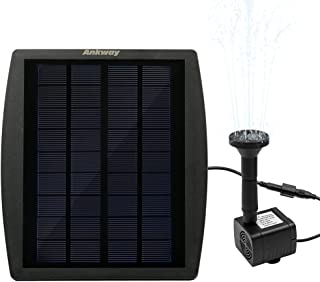 [Continuous Flow] Ankway Solar Pump for Water Fountain, Solar Powered Panel Kit Pool Garden Watering Submersible Pump,Birdbath Fountain,Easy Installation