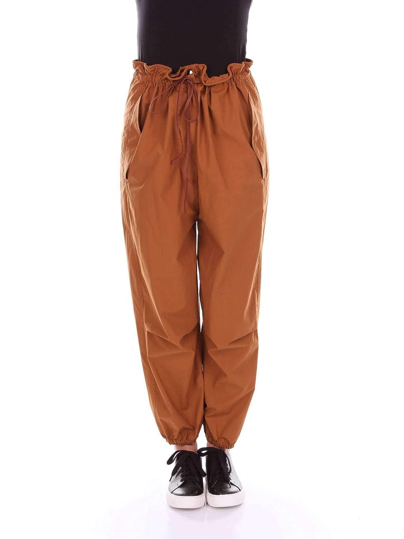 Tela Women's 147662019615BROWN Brown Cotton Pants
