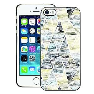 A-type Arte & diseño plástico duro Fundas Cover Cubre Hard Case Cover para iPhone 5 / 5S (Art Pattern Blue Yellow)