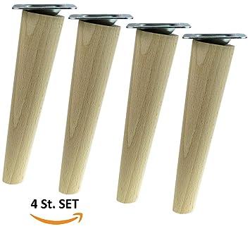 4x Holzfusse Mobelfusse Sofafusse Buche Zubehor L 20 Cm Schrag Holz