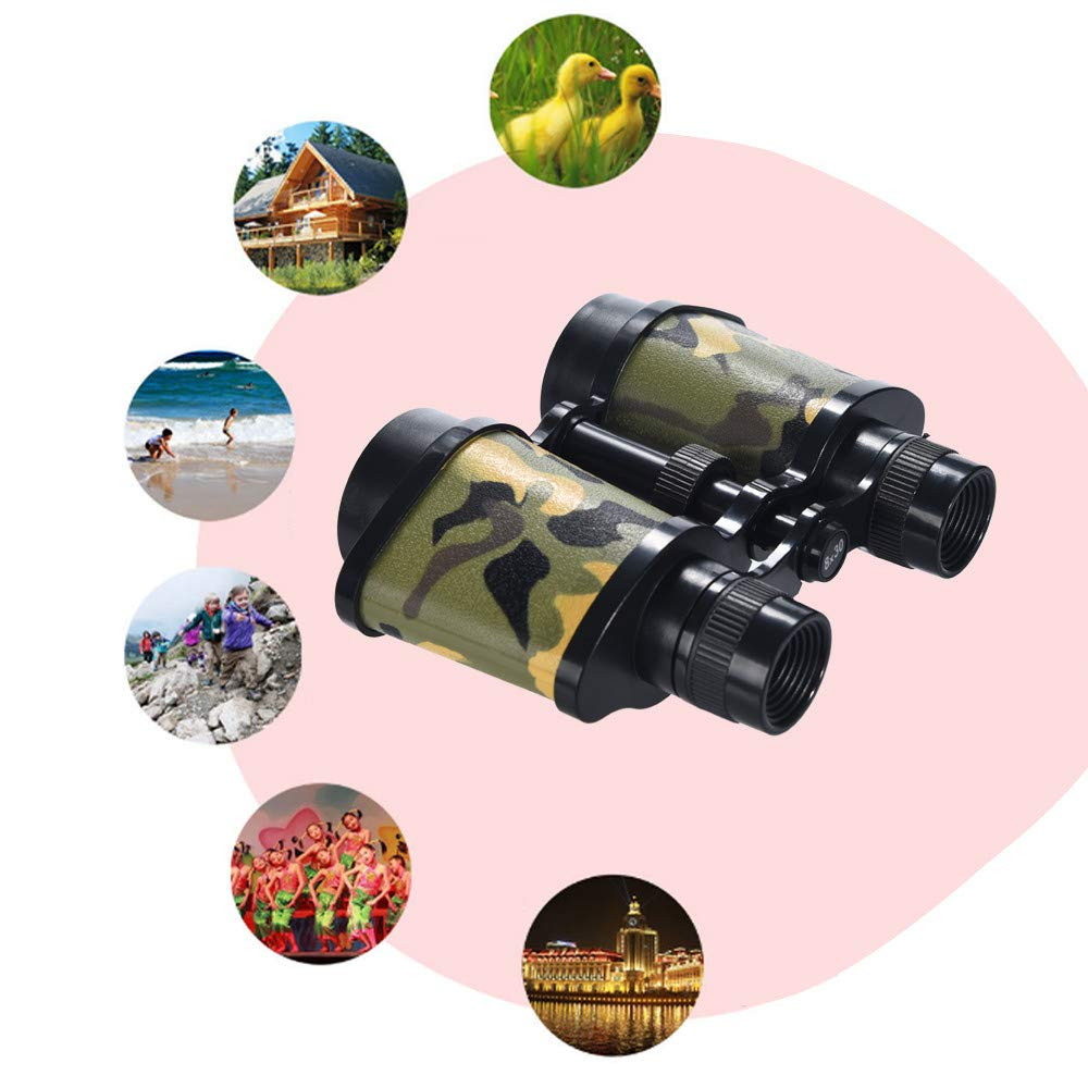 Boys /& Girls Gift Binoculars for Kids Spy Outside Play Outdoor Exploration Kit Compact High Power Kids Binoculars for Bird Watching Hunting Hiking 6.2x4.7x1.5 in // 16x12x4 cm, Camouflage