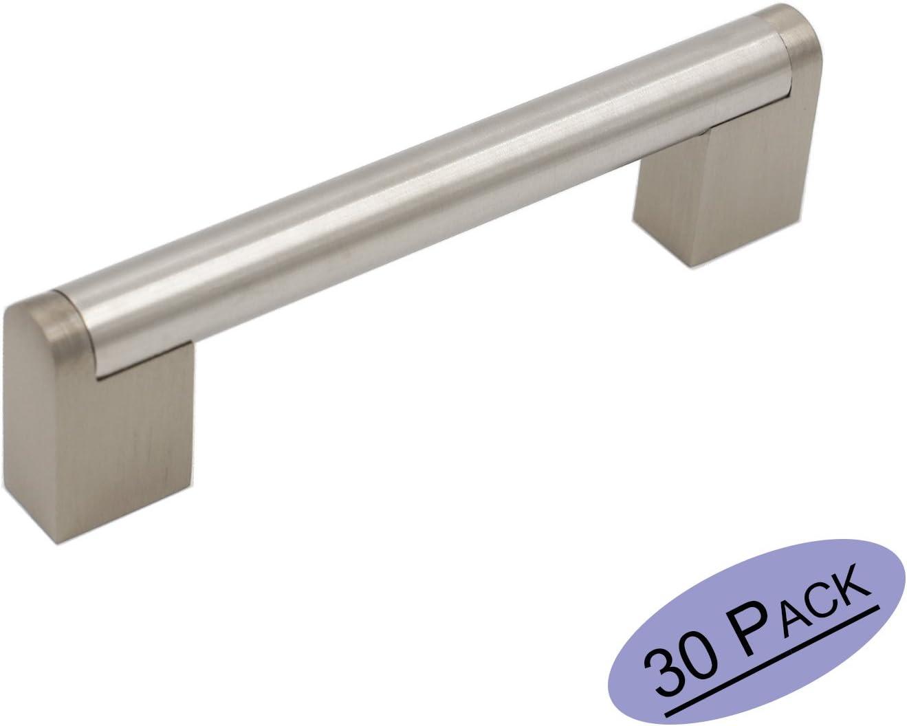 1x 102mm M/öbelgriffe Edelstahl Schrankgriffe T/ürgriff Goldenwarm Modern K/üchengriffe LSJ14BSS102 geb/ürstetes Nickel