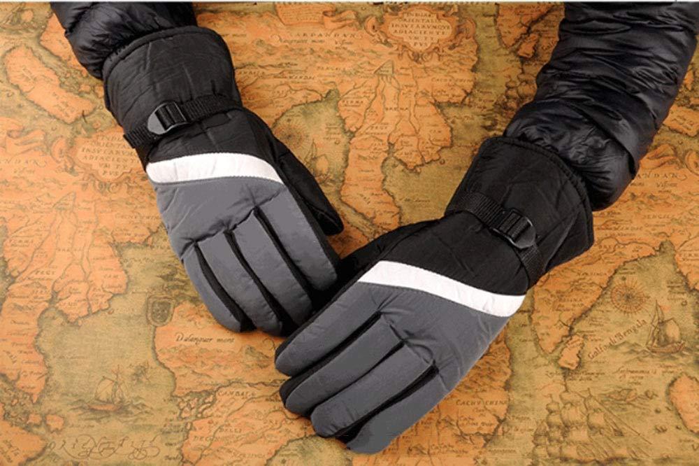 ERKEJI Guantes Paseo de Invierno Ski a Guantes Hombres Motos a Ski Prueba de Viento y Terciopelo Espeso-al Aire Libre frío y Caliente 315b3d