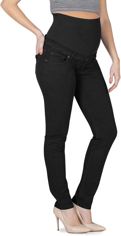 MAMAJEANS Maiori Premaman Cinque Taschen Slim Fit niedrige Taille Vor- und NachSchwangerschaft Made in Italy