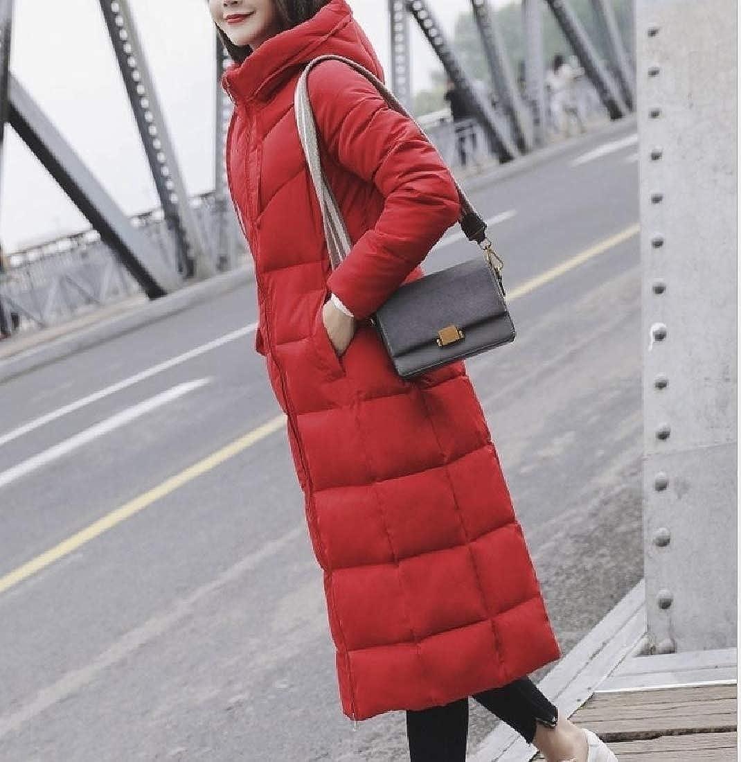 Againg Women Packable Hood Wrap Outwear Slim Fitting Down Parka