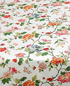 High Quality Ralph Lauren Caroline Floral Print Tablecloth ~ 70 Inch Round