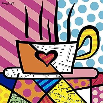 Amazon.com: Latte Amor Por Romero Britto Bebida Café Cocina ...