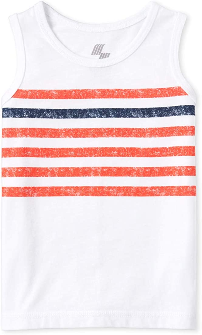 The Childrens Place Boys Striped Tank Top