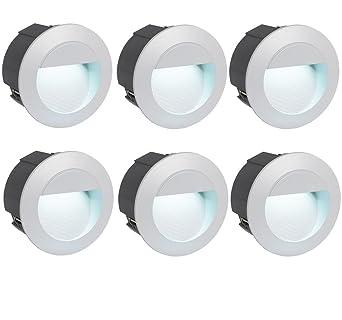 Schön 6er Set Stufen Einbau Leuchte LED Akzent Wand Beleuchtung Außen  PN16