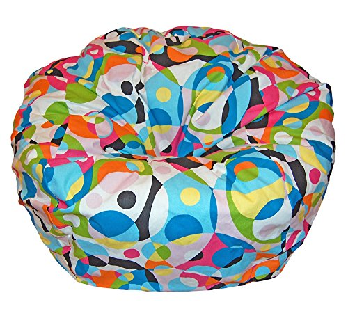 Ahh! Products Kaleidoscope Cotton Washable Large Bean Bag Chair by Ahh! Products