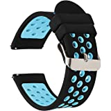 Universal 18mm 20mm 22mm 24mm Width Silicone Watch Band Replacement, Quick Release Rubber Watch Bands for Men & Women