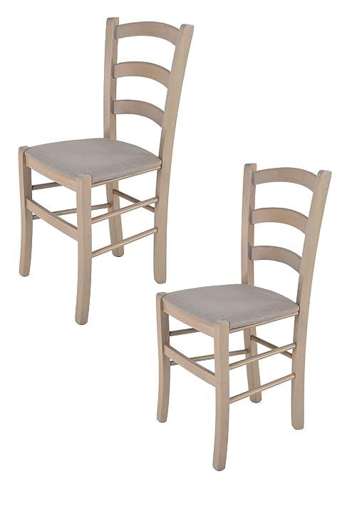 Tommychairs - Set 2 sedie classiche VENICE per cucina, bar e sala da ...