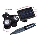 Solar Powered Spotlights with 2pcs Lamps Holder