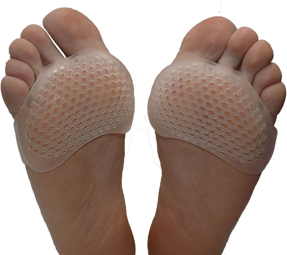 Beston Footcare Professional Metatarsal Pads, Forefoot Pads for Runner, Breathable and Soft Gel, Best for Diabetic Feet, Callus, Forefoot Pain