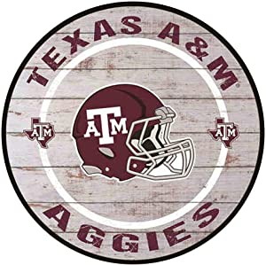YOMIA Tin Signs for Texas A&M Man Cave Signs and Decor Metal Signs for Garage Man Cave 12 x12 Inches