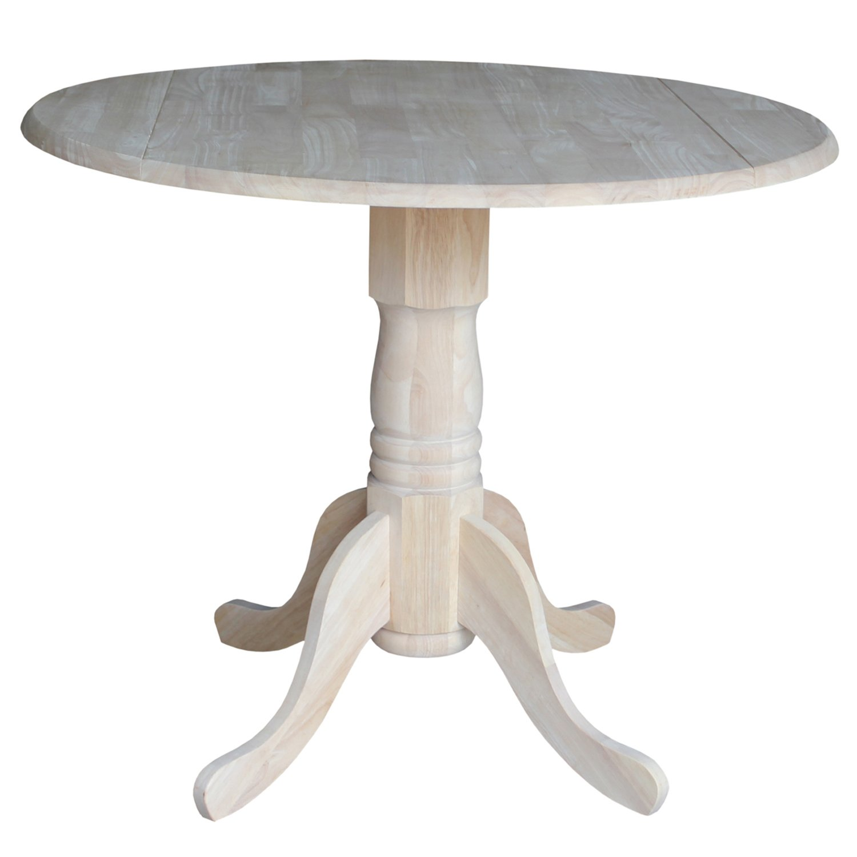 International Concepts T-36DP 36-Inch Dual Drop Leaf Table, Unfinished by International Concepts