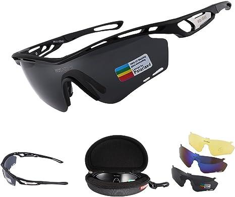 LESHP Gafas de Sol Polarizadas UV Ciclismo Deportivas Manera Reflexiva de Deportes al Aire Libre para Bicicleta Actividades con 3 Lentes de Ciclismo Gafas Sol: Amazon.es: Deportes y aire libre