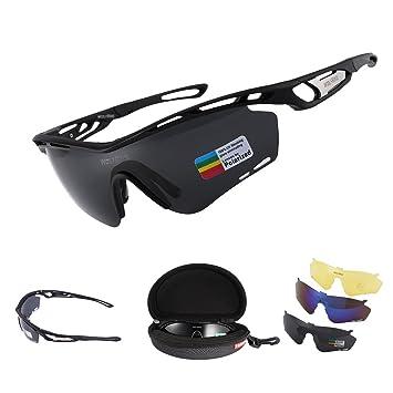 Gafas de Sol Polarizadas LESHP UV Ciclismo deportivas Manera Reflexiva de deportes al aire libre para Bicicleta Actividades con 3 lentes de ciclismo gafas ...