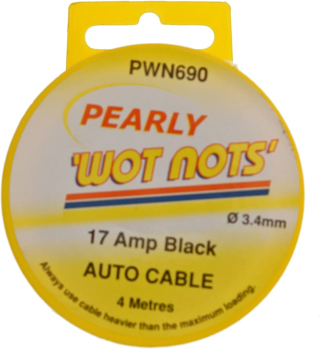 Pearl Automotive PWN690 17A 3.4mm x 4m Wiring Cable Black
