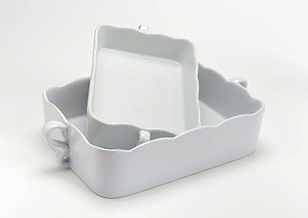 Plana gratinado blanco, Modelo Pequeño, Dim 24,5 x 15 x 5, plana a ...