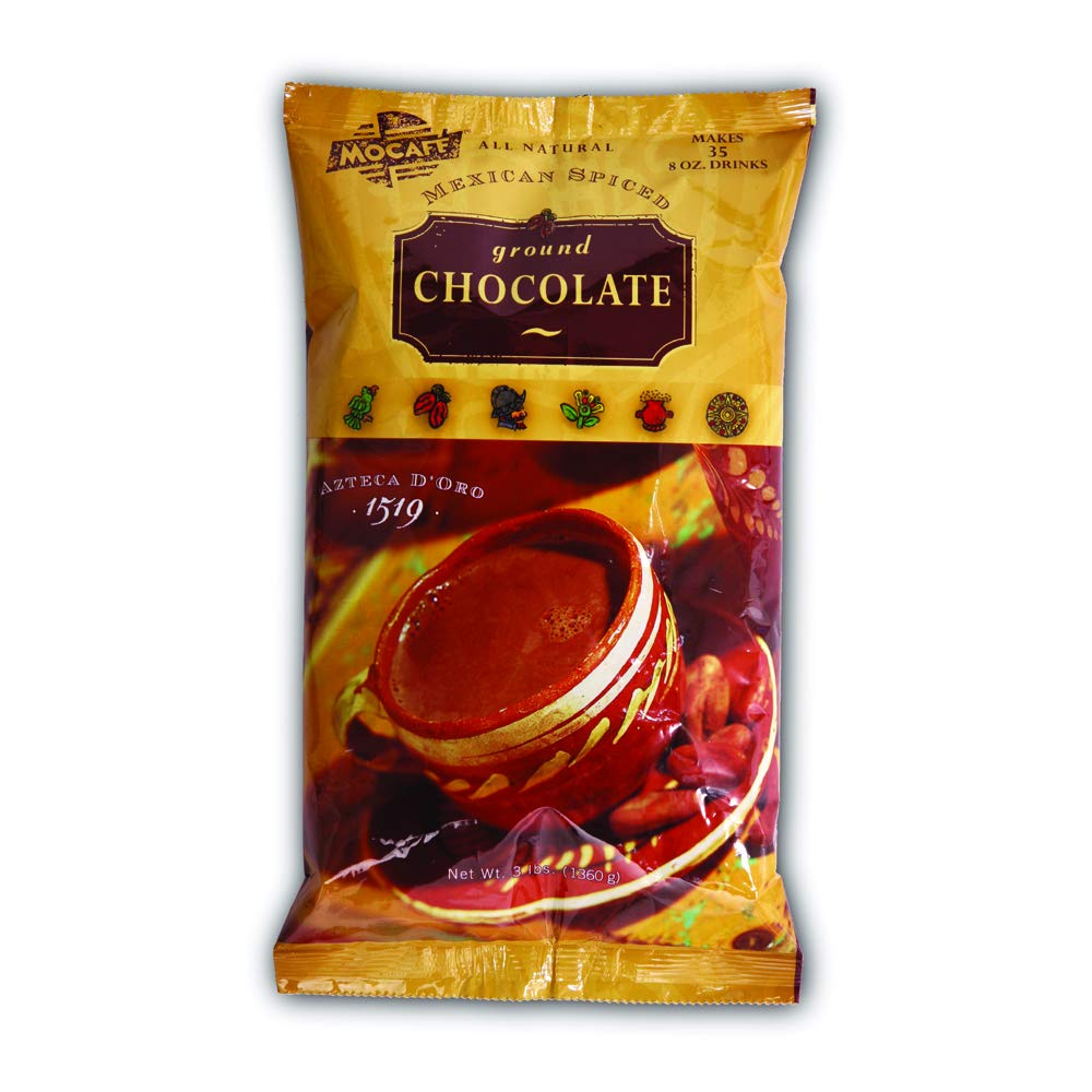 Mocafe Azteca D Oro Mexican Spiced Chocolate Cocoa, 3 Pound Can - 4 per case.