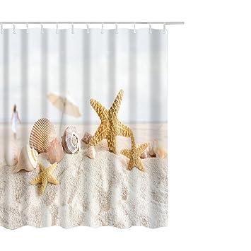 Hoomall Duschvorhang Wasserdicht Schimmelfrei Textil Digitaldruck ...