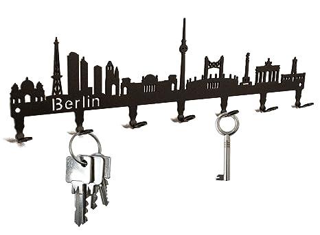 Titular de la clave//gancho Skyline Paris colgador Francia clave ganchos para pared 7 ganchos negro Metal