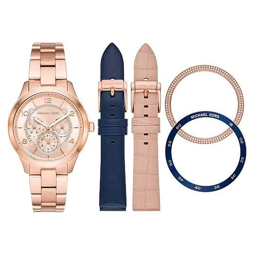 Michael Kors Reloj Analógico para Mujer de Cuarzo con Correa en Acero Inoxidable MK3983: Amazon.es: Relojes