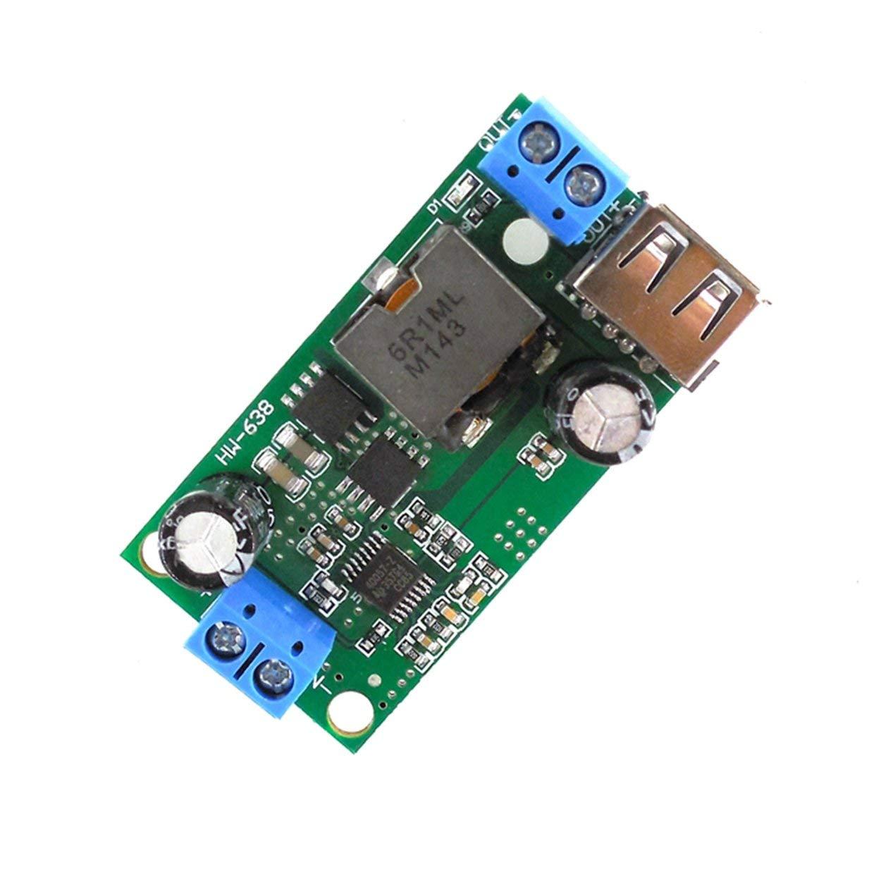 Lofenlli Fit HW-638 Module abaisseur de Tension 9V 36V /à 5V CC-CC stabilisateur de Tension /à convertisseur de Puissance r/égul/é int/égr/é 24V 12V