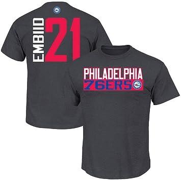 Football Fanatics Philadelphia 76ers Joel embiid vertical jugador camiseta carbón, Carbón
