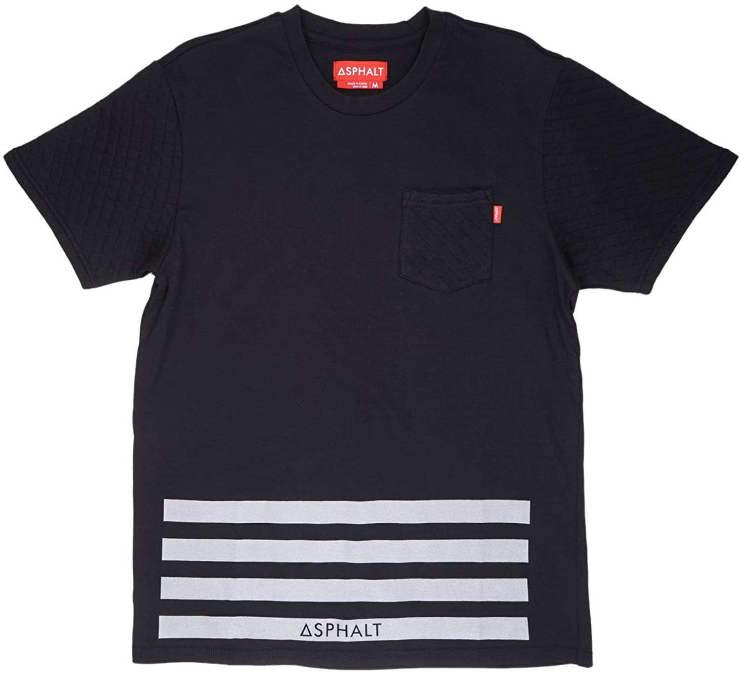 Asphalt Yacht Club Pocket T-Shirt Quilted Sleeves Black