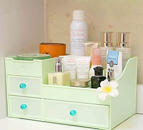 LER Caja de almacenamiento de cosméticos tipo cajón, mesa, tocador ...